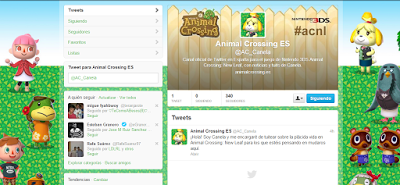 Animal Crossing 3DS: New Leaf estrena su Twitter oficial para España