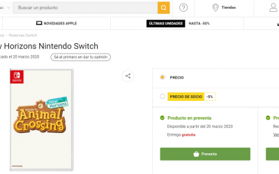 Dónde reservar Animal Crossing New Horizons más barato